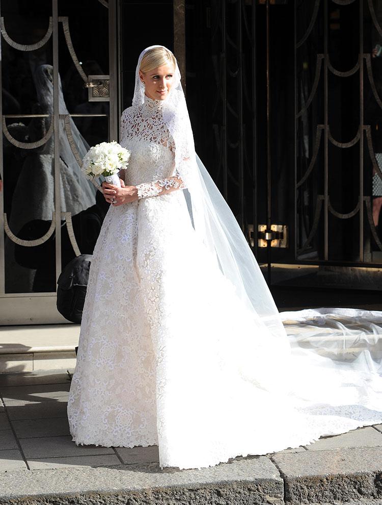 Nicky Hilton in a Valentino Wedding Dress
