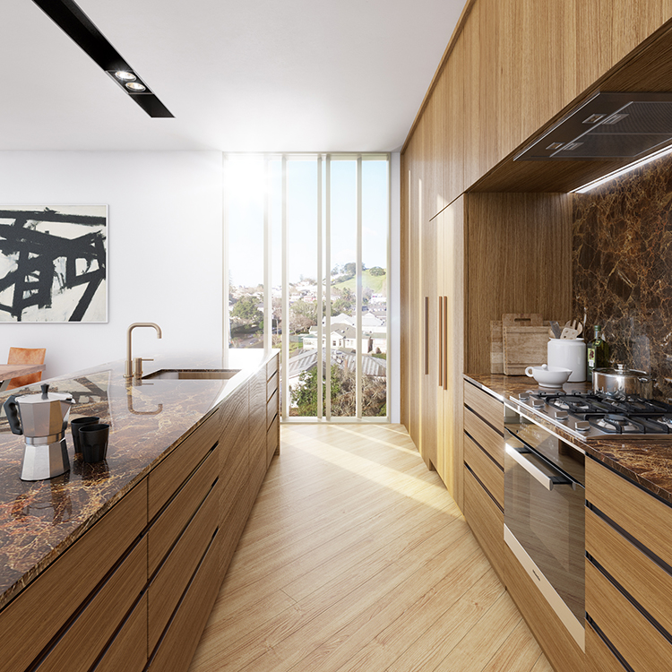 Kitchen at St Marks apartments