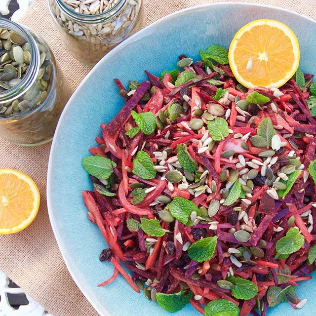 grated beetroot salad