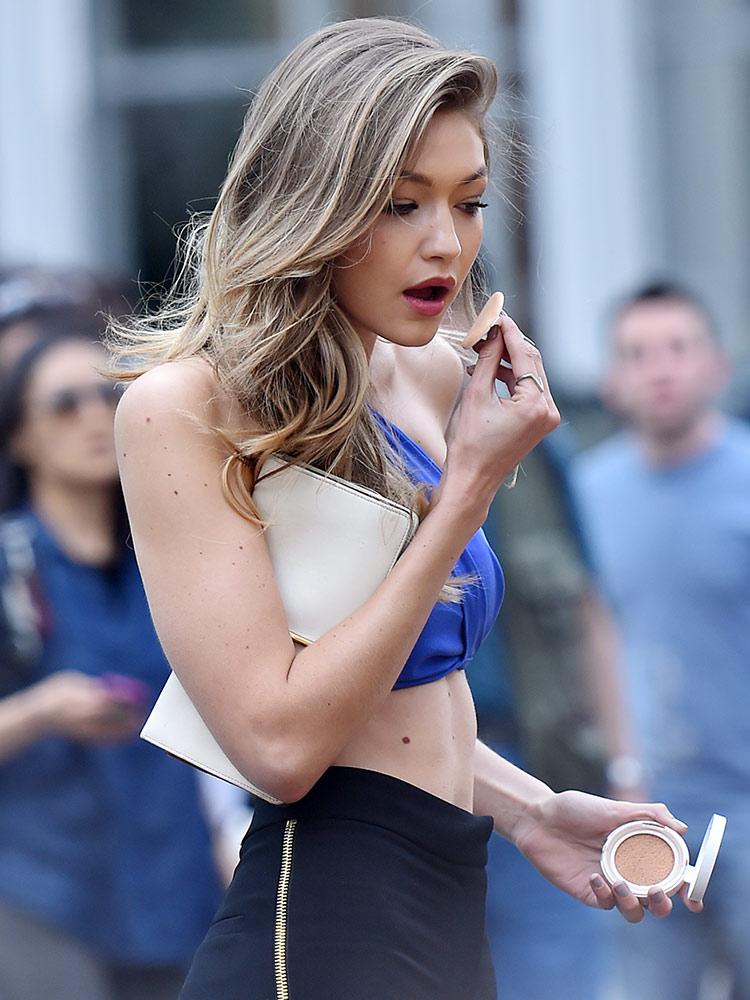 Gigi Hadid on Maybelline New York shoot