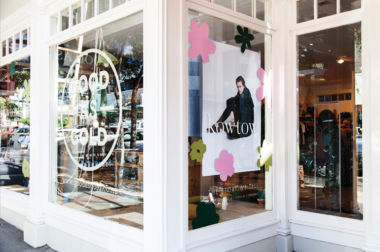 Wellington store Good as Gold has been a supporter of Kowtow since the brand's launch nine years ago.