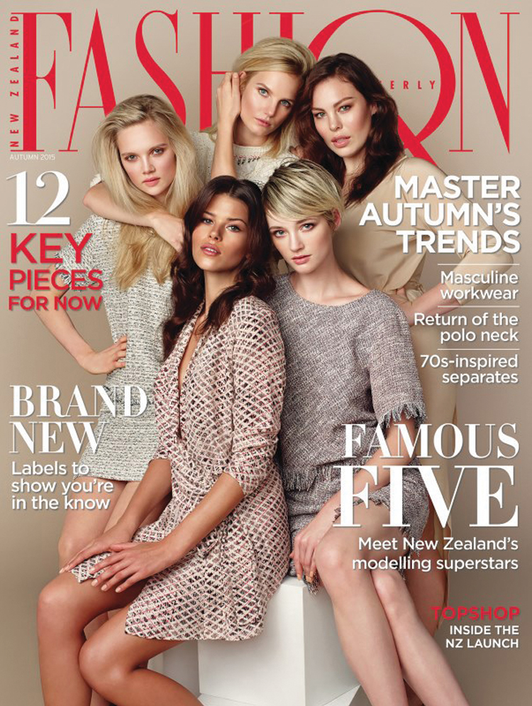 Amber's work featured on the cover of the autumn 2015 issue of Fashion Quarterly