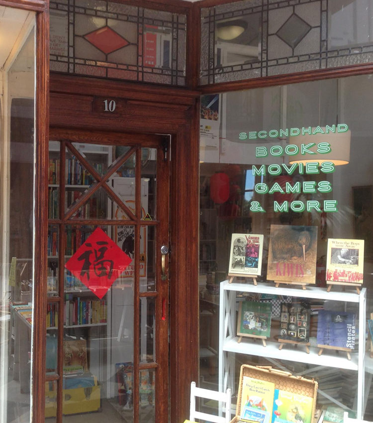 Down St Kevins Arcade, off Karangahape Road, The Green Dolphin is a welcoming and relaxed store with secondhand books, movies, games and other trinkets.
