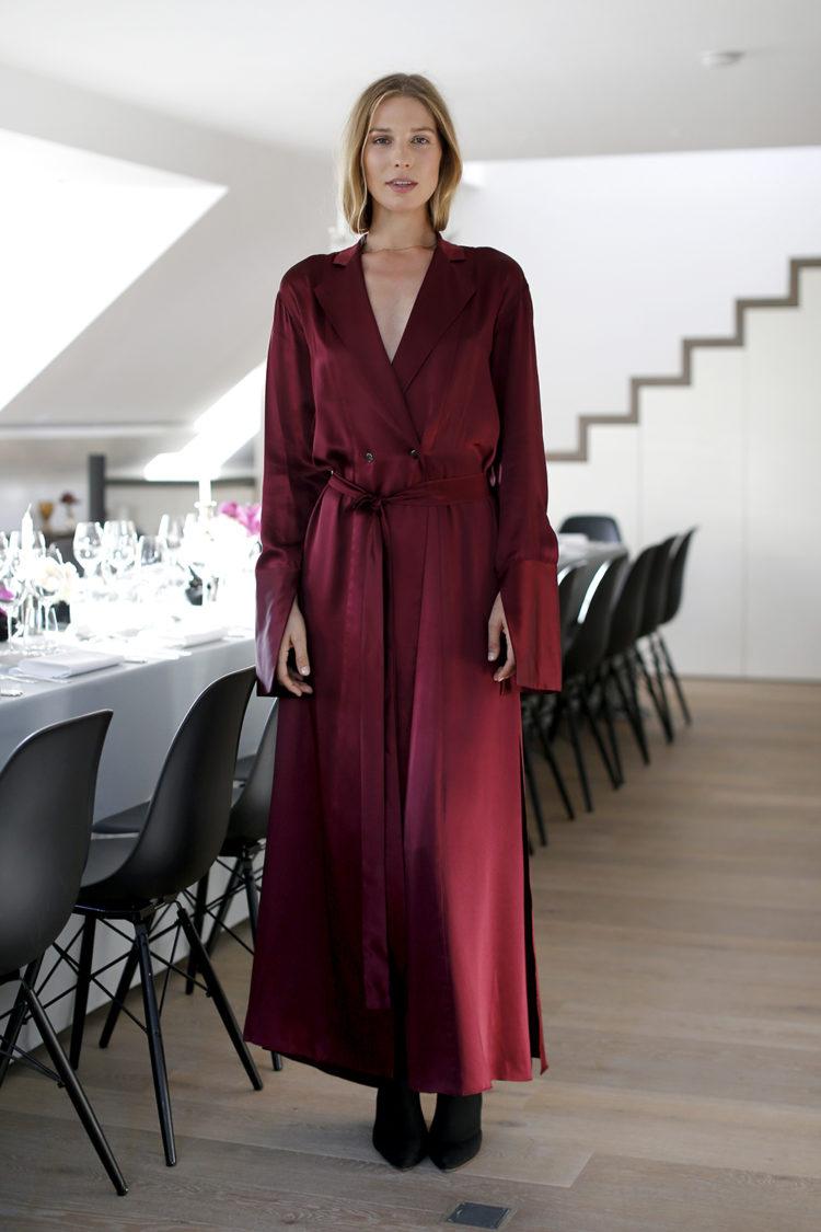 German model Sarah Brandner during the Clos19 dinner on July 13th in Munich.