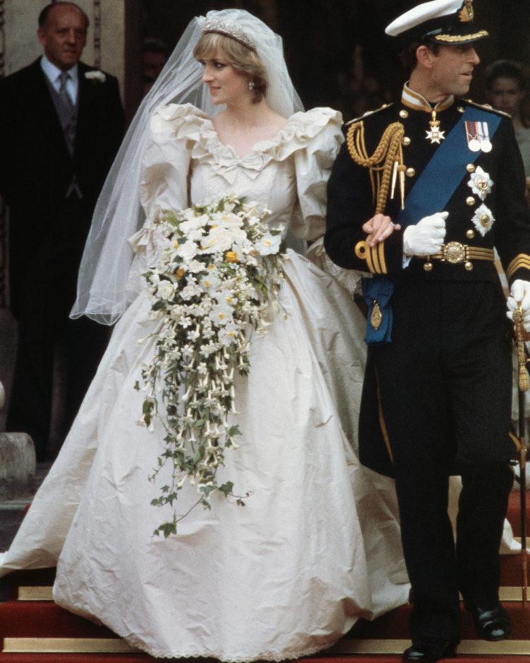 Diana, Princess of Wales, in David and Elizabeth Emanuel