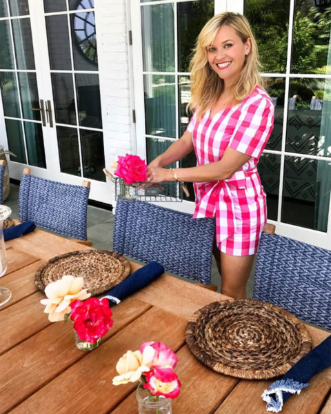 Reese Witherspoon getting 4th of July brunch ready
