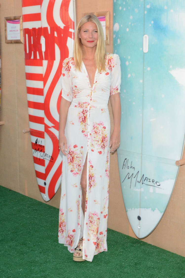 Looking the epitome of 'summer', Gwyneth Paltrow wore Pia Tjelta by Ti Mo at a fundraising party in the Hamptons. Photo / Getty Images
