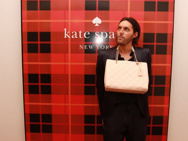 FQ's Marcel Gull at the Kate Spade boutique opening