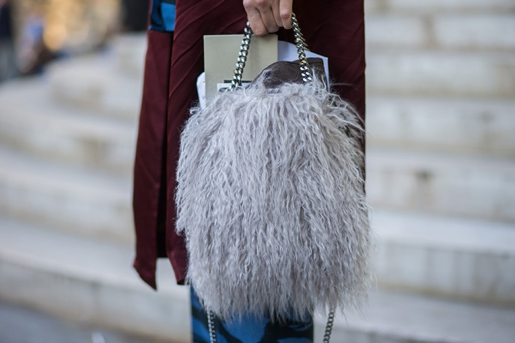 Linda Tol wears a Stella McCartney bag. Photo / Getty Images