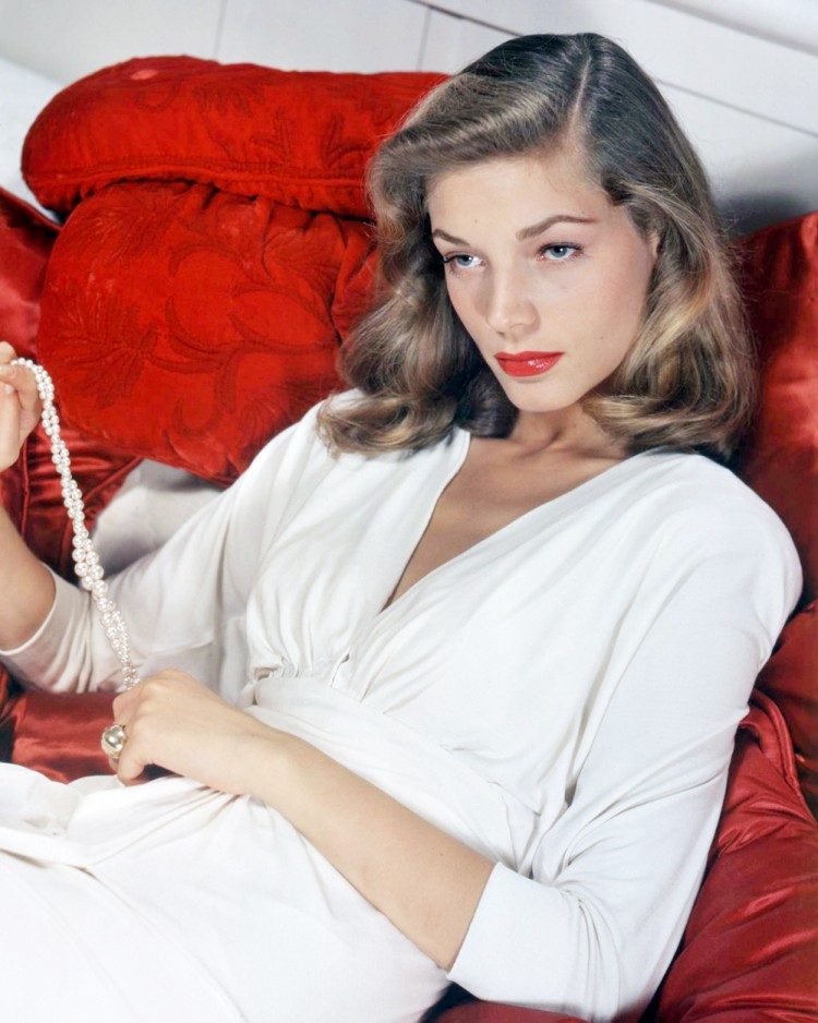 Lauren Bacall's femme fatale brows in the 40s and 50s helped her to hone her signature expression: