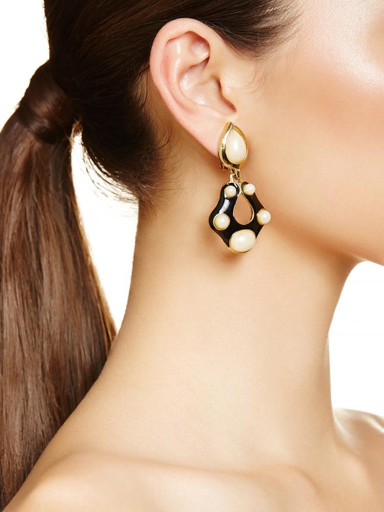 Mia earrings, $349