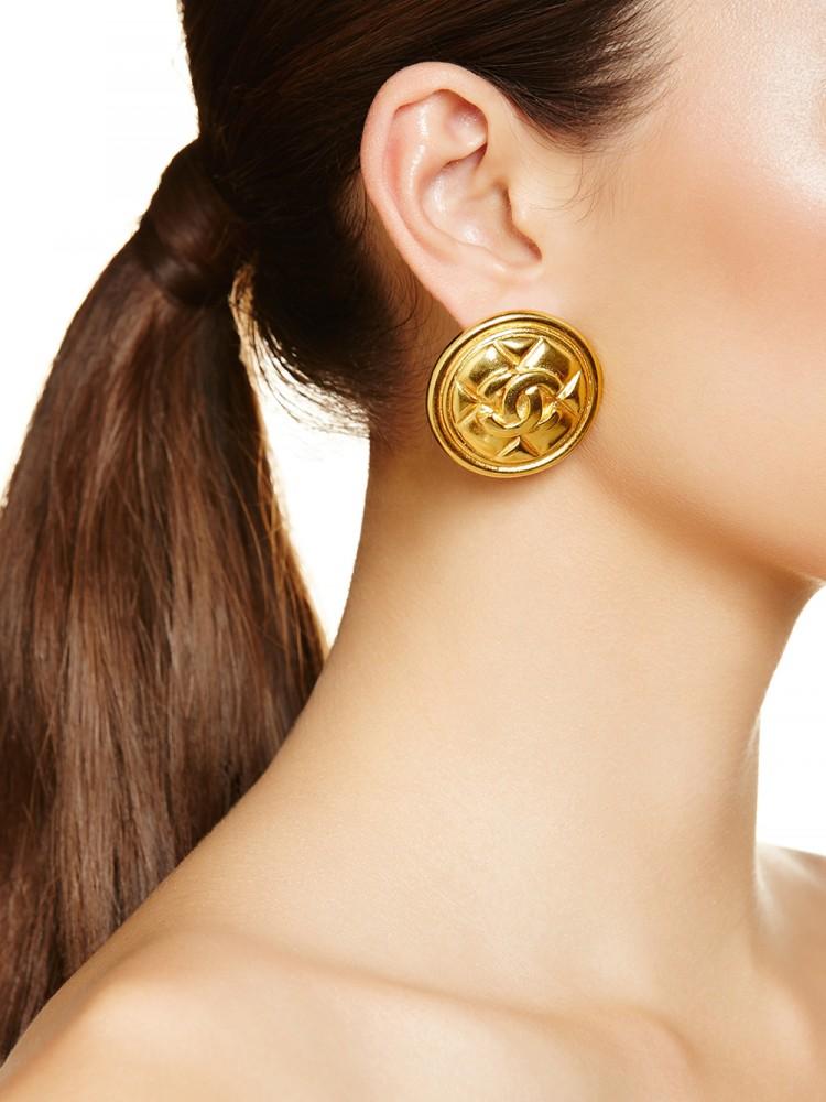 Chanel Classique earrings, $929
