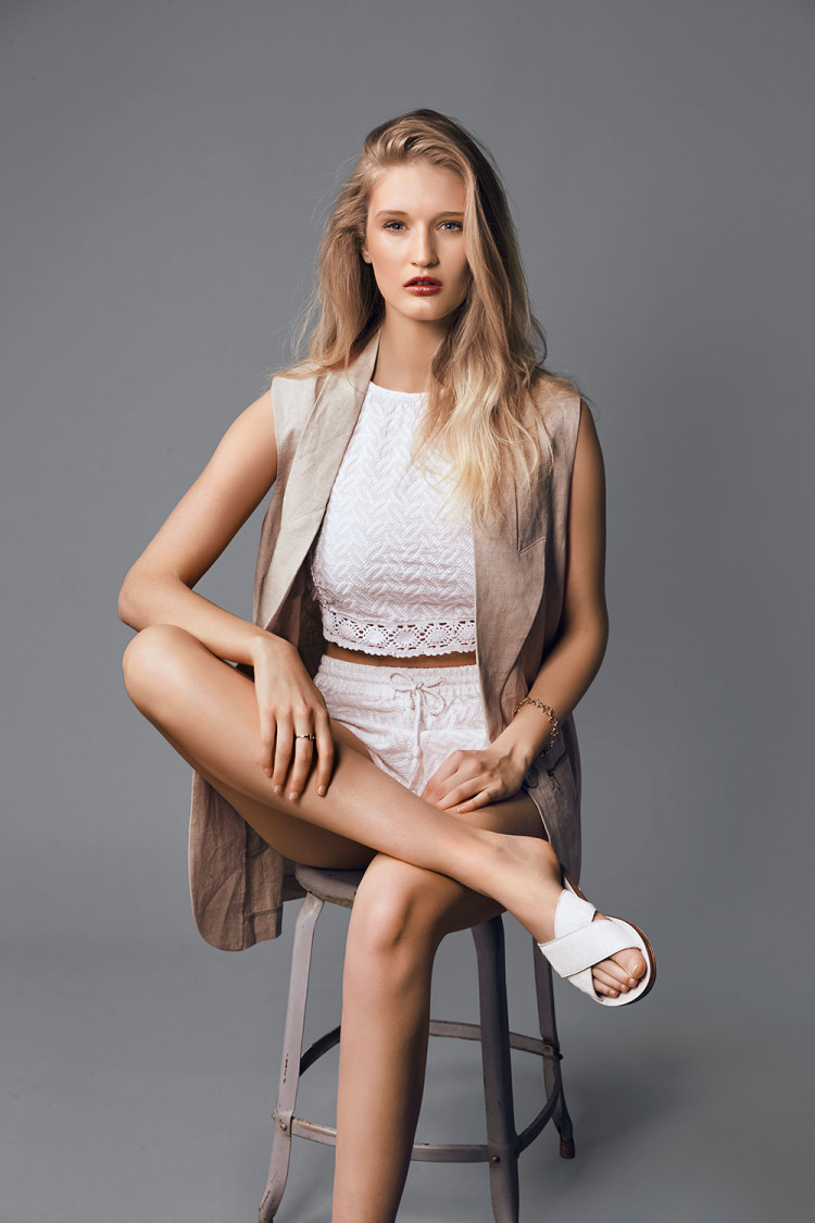 Billabong top, $84.99, and shorts, $69.99. Salasai vest, $315. La Tribe sandals, $179.90. Tiffany & Co ring, $1465, from T by DFS Galleria. Tous bracelet, $325.