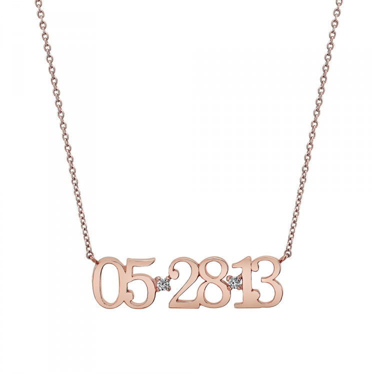 Naomi Gray Date Necklace