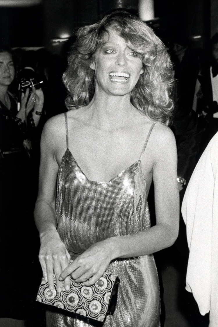 Farrah Fawcett, at the 1978 Academy Awards.