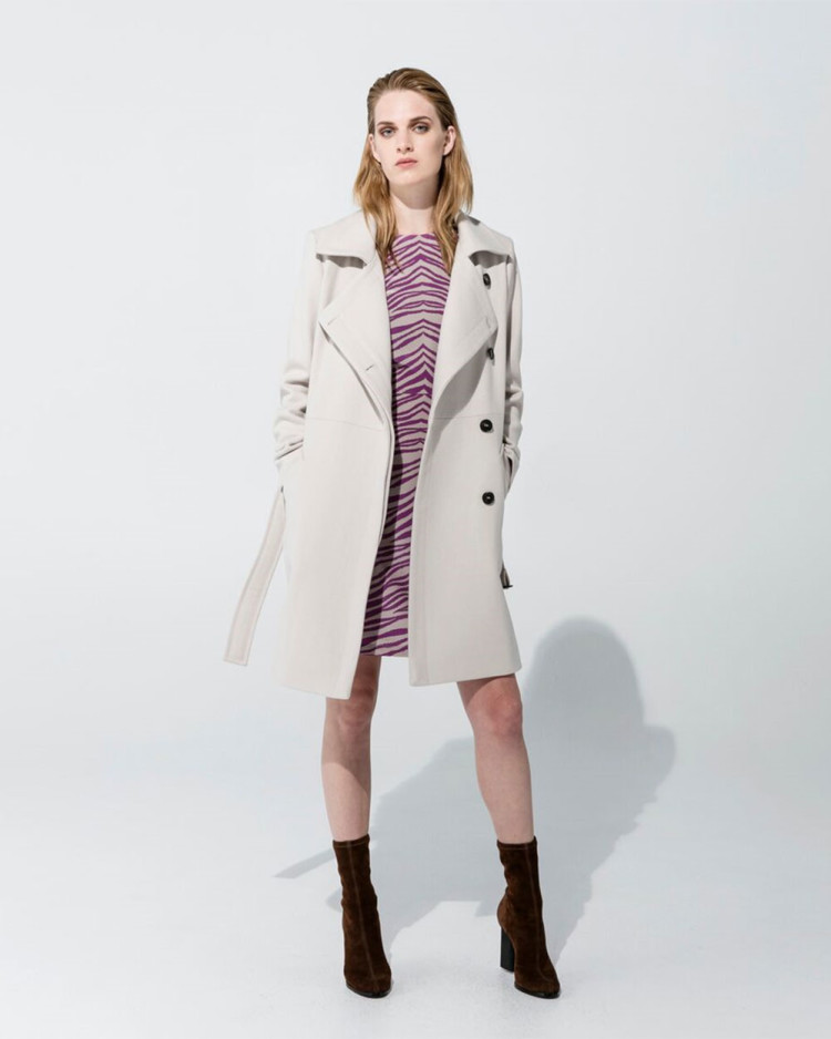 Wool Trench – Champagne, Alex Dress – Cyclamen