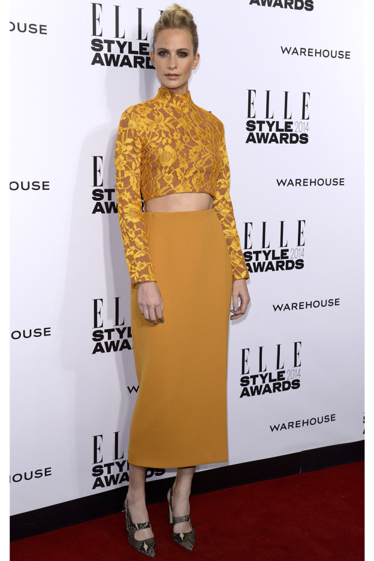 Poppy Delevingne in Emilia Wickstead.