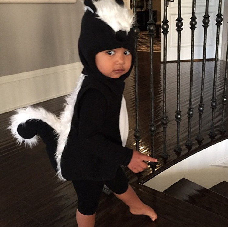 I'll skunk you later, happy Halloween, October, 2014.