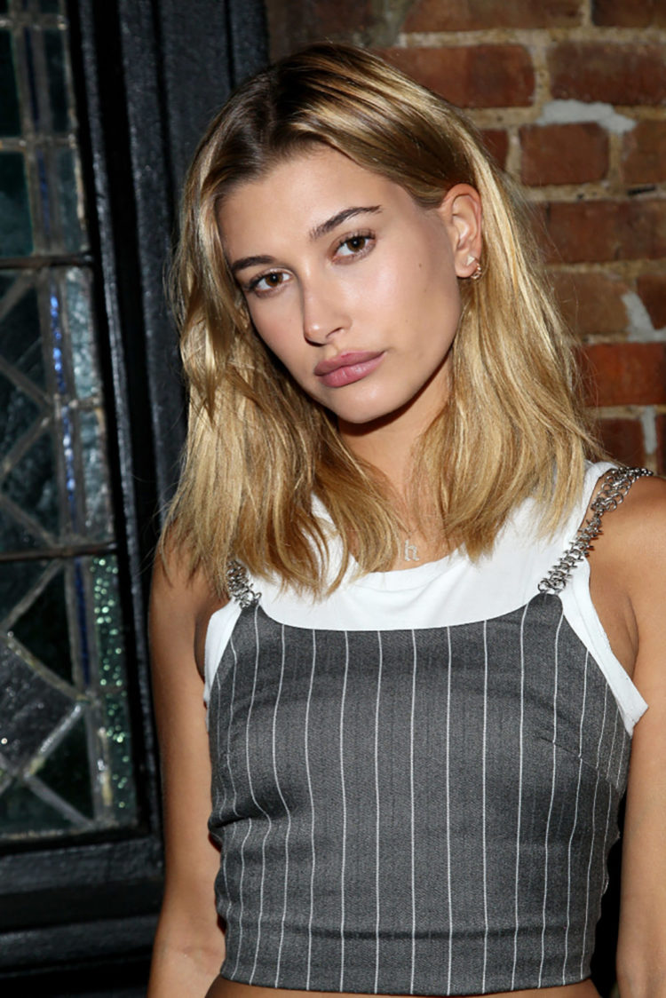 NEW YORK, NY - AUGUST 24: Hailey Baldwin attends Justine Skye's 21st Birthday Dinner at Jue Lan Club on August 24, 2016 in New York City. ; Shutterstock ID 1266959896; Purchase Order: Fashion Quarterly