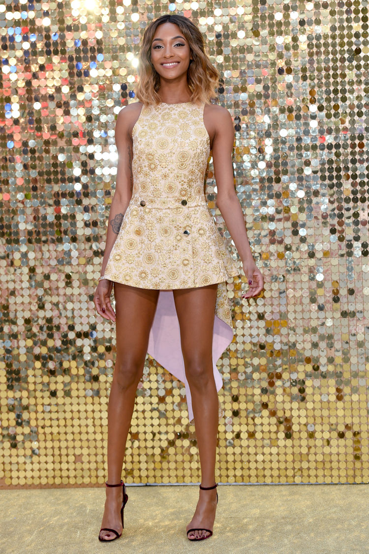 Jourdan Dunn at the World Premiere of Absolutely Fabulous in London.