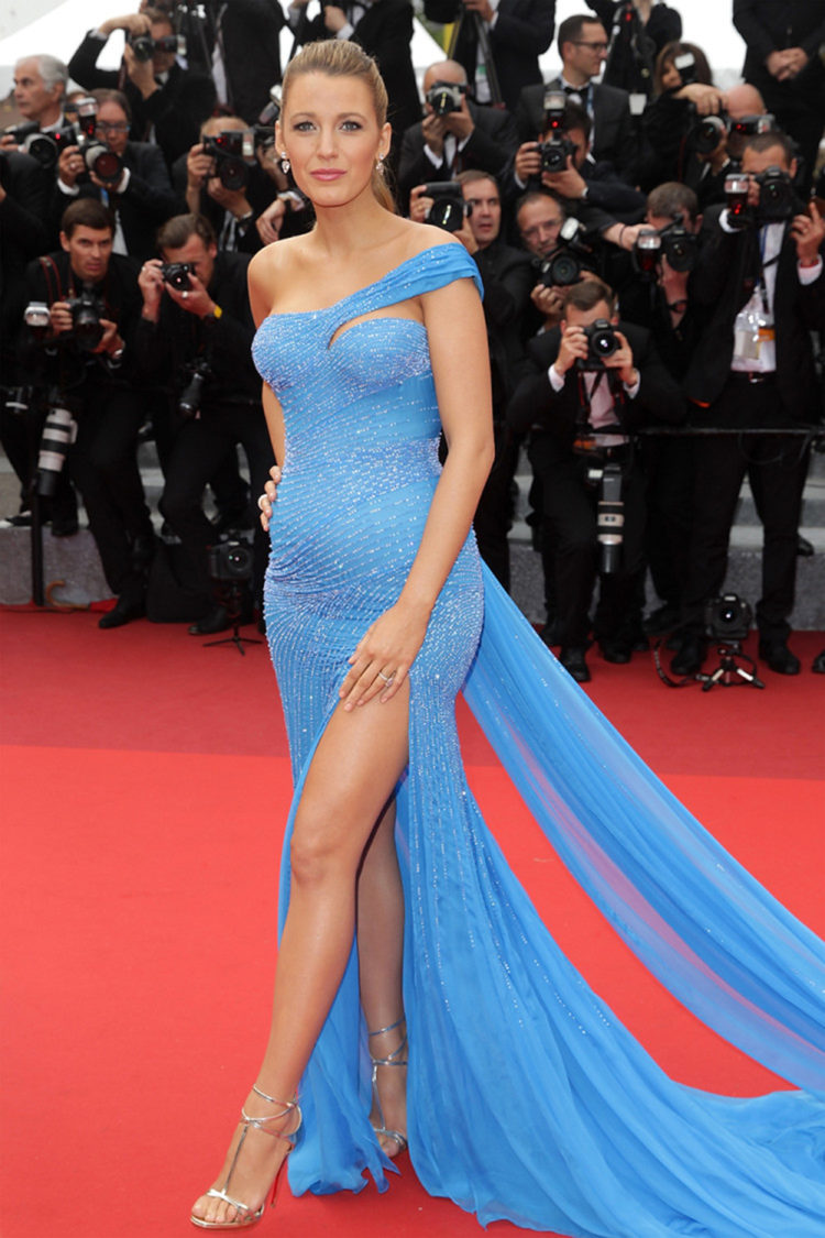 Perfecting a princess look on the red carpet is hard enough without looking like a Disney cartoon, but Lively makes it look effortless in a sparklingly blue Elsa esk Versace dress at the 2016 Cannes Film Festival, which showed off her forever perfect pair of pins - urghhhh, if only we looked this good at our prom!