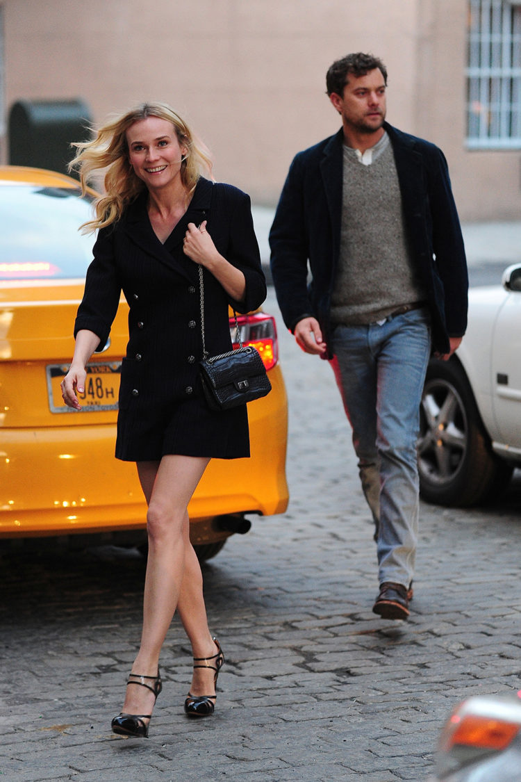Diane Kruger and Joshua Jackson are seen in the West Village on March 26, 2013 in New York City.