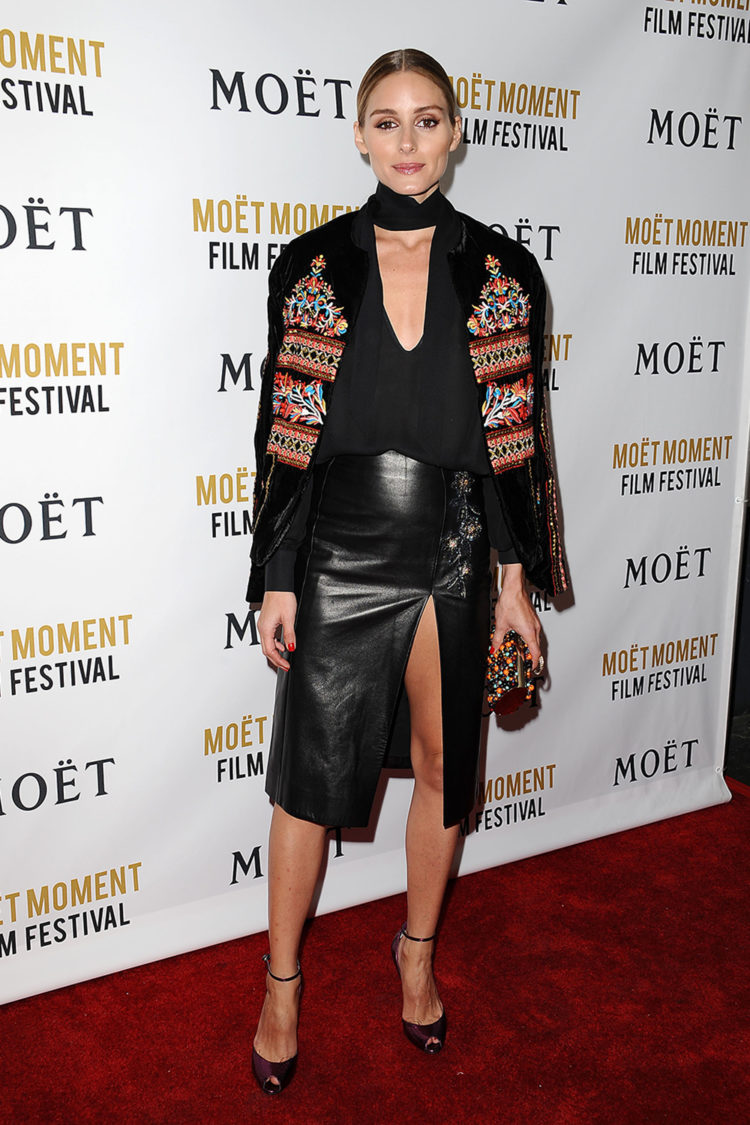 Olivia Palermo attends the Moet and Chandon celebration of The Golden Globes on January 8, 2016 in West Hollywood, California.