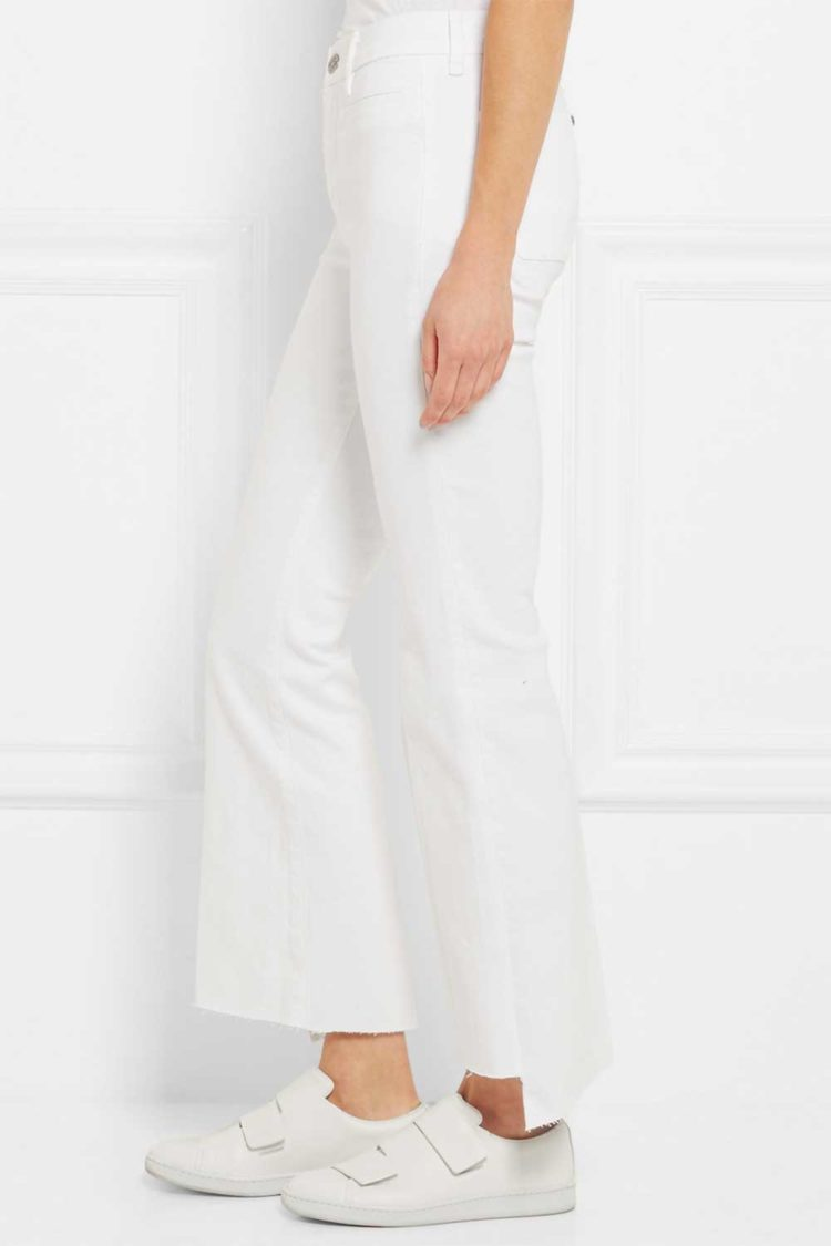 M.I.H Jeans Marrakesh cropped mid-rise flared jeans