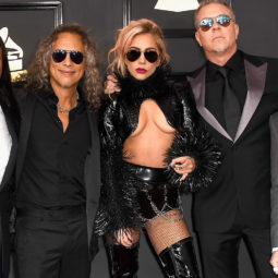 Lady Gaga and Metallica at the Grammys 2017