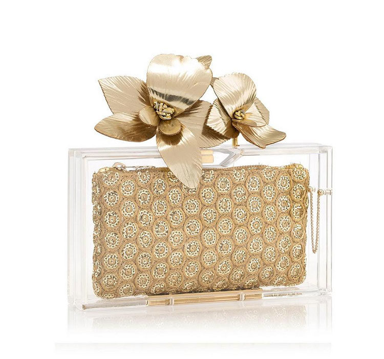 Charlotte Olympia Orchid Pandora clutch