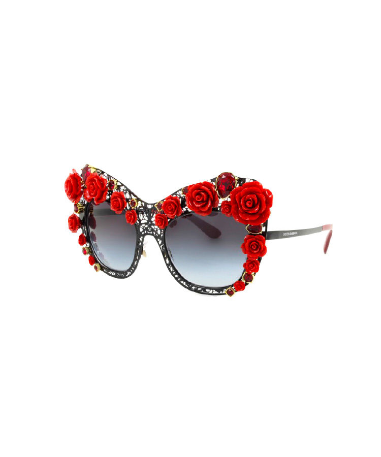 Dolce & Gabbana sunglasses, $3,810, from Sunglass Hut.