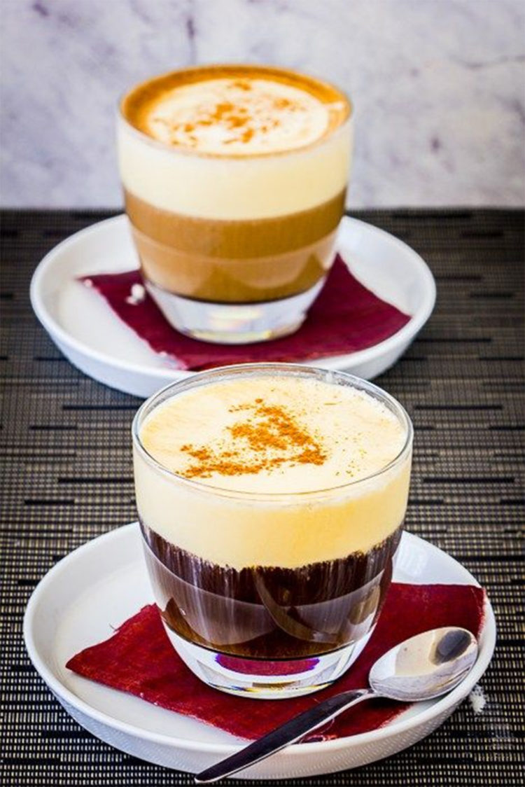 While egg and coffee don't sound like they should go together, this Vietnamese specialty proves it can be done. The whisked egg yolks are mixed with condensed milk and then poured over espresso, making it more of a dessert. The perfect way to end a meal!
