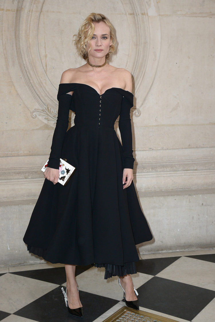 Diane Kruger attends the Christian Dior Haute Couture Spring Summer 2017