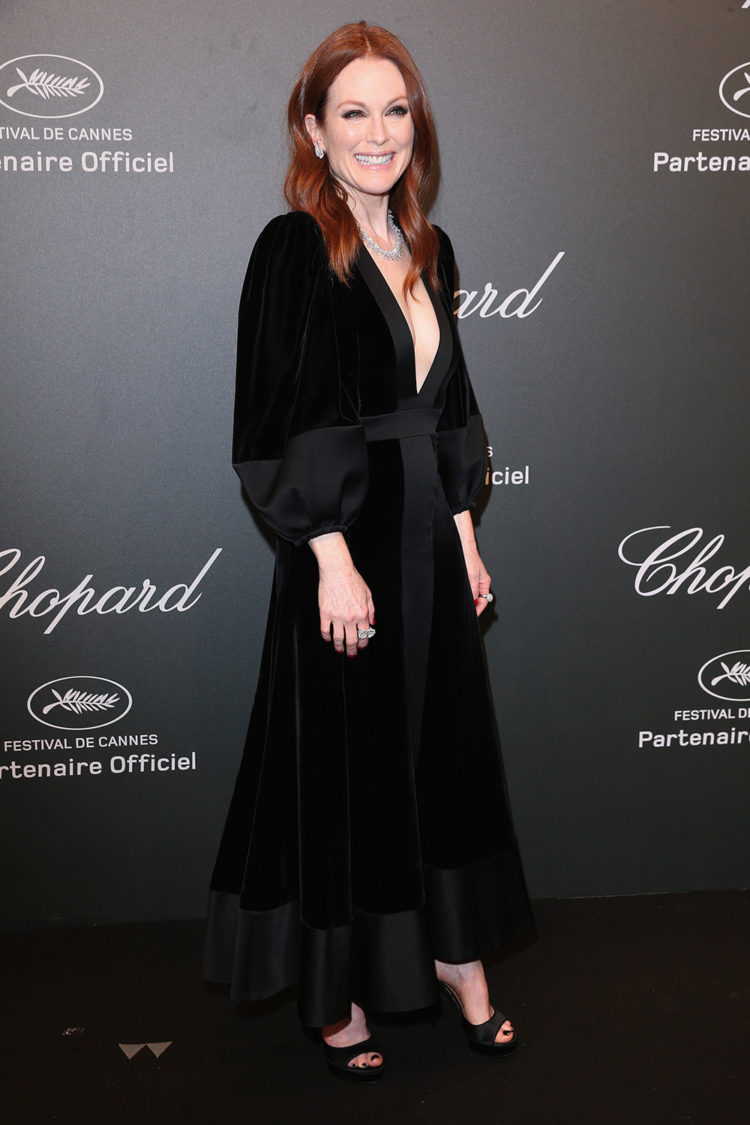 "Julianne Moore attends the Chopard ""SPACE Party"" Cannes 2017"