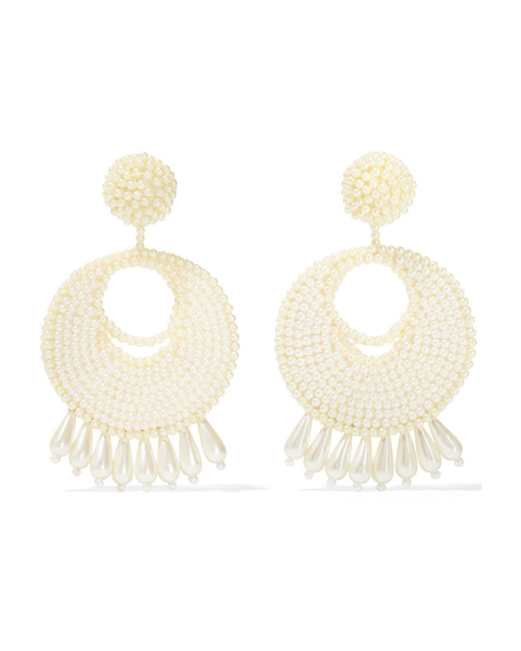 Kenneth Jay Lane earrings, $145 from Net-a-Porter