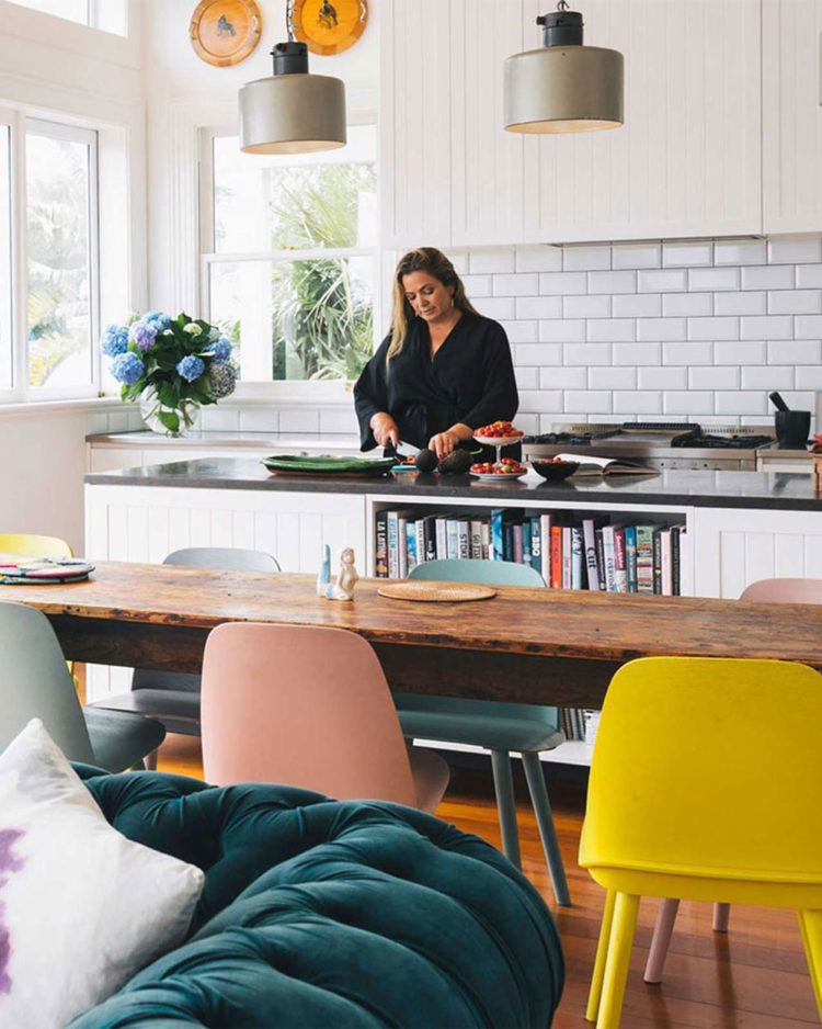 Woman's Day editor Sido Kitchin at home in her renovated Auckland villa