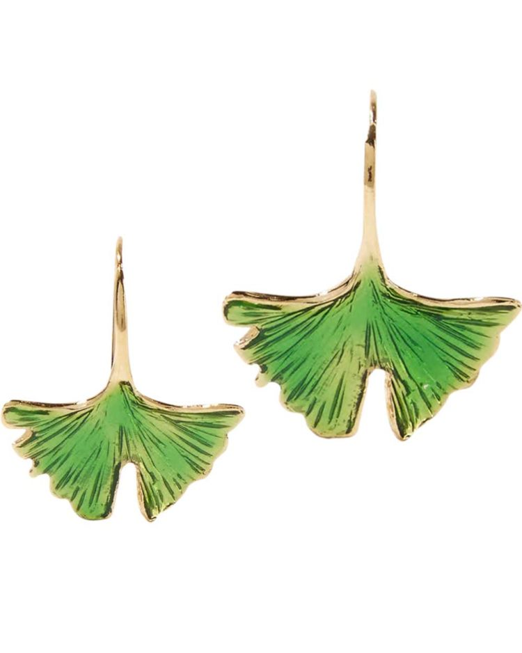 Aurelie Bidermann earrings, $433, from Net-a-Porter