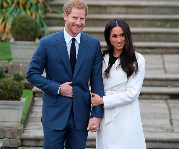 Prince Harry and Meghan Markle at their engagement photocall