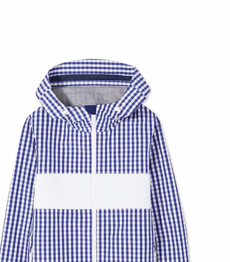 Cult athleisure brands we want to shop right now: TORY SPORT Gingham Reflective Jacket $375 USD (approx. $540 NZD) Designed to keep you visible in low-light conditions thanks to a reflective chest panel, the high-performance layer repels water and resists wind. Other smart features include a functional media pocket with headphone channel and a drawcord at the hood and hem.