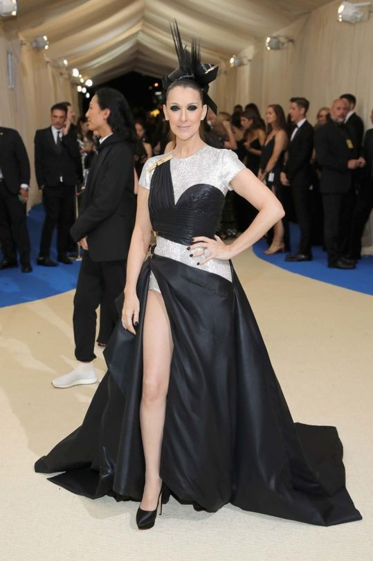 Arguably this years Most Improved Player in the fashion stakes, Céline Dion wears Versace at the Met Gala.