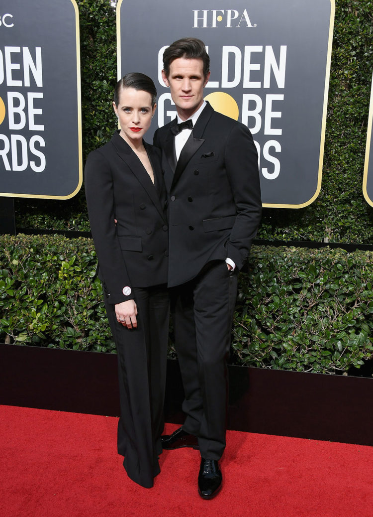 The Crown co-stars Claire Foy and Matt Smith.