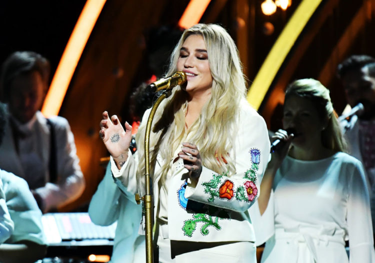 NEW YORK, NY - JANUARY 28: Recording artist Kesha performs onstage during the 60th Annual GRAMMY Awards at Madison Square Garden on January 28, 2018 in New York City. (Photo by Jeff Kravitz/FilmMagic)