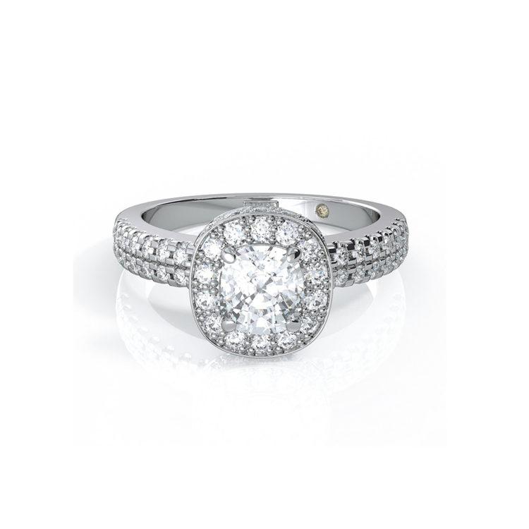 Orsini Lusso Brilliant Micropavé Diamond Engagement Ring, POE