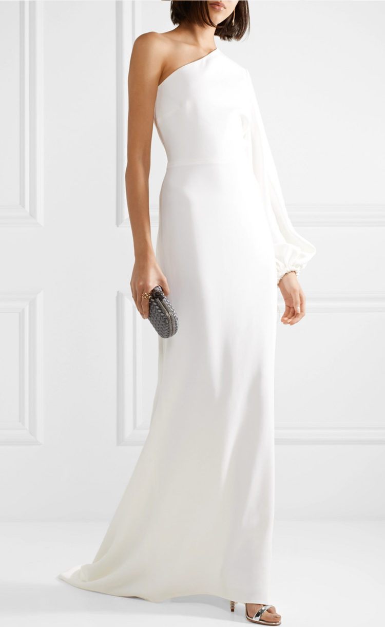 Non-bridal dresses you could 100% get married in | One-shoulder stretch-cady gown by Stella McCartney, $3,310 (approx. $NZD) from Net-a-porter