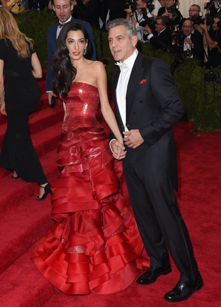 Amal Clooney, 2015 2015 marked Amal Clooney's first Met Gala, but she still managed to steal the show in tiered Galliano. For 2018, she's on co-hosting duties.