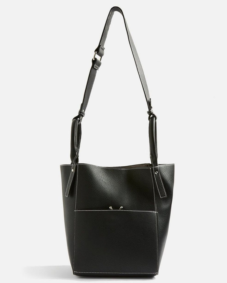 30+ Items We Can't Believe Are On Sale Right Now And We're #AddingToCart | Sandra Stitch Shoulder Bag, £15 (was £29) from Topshop