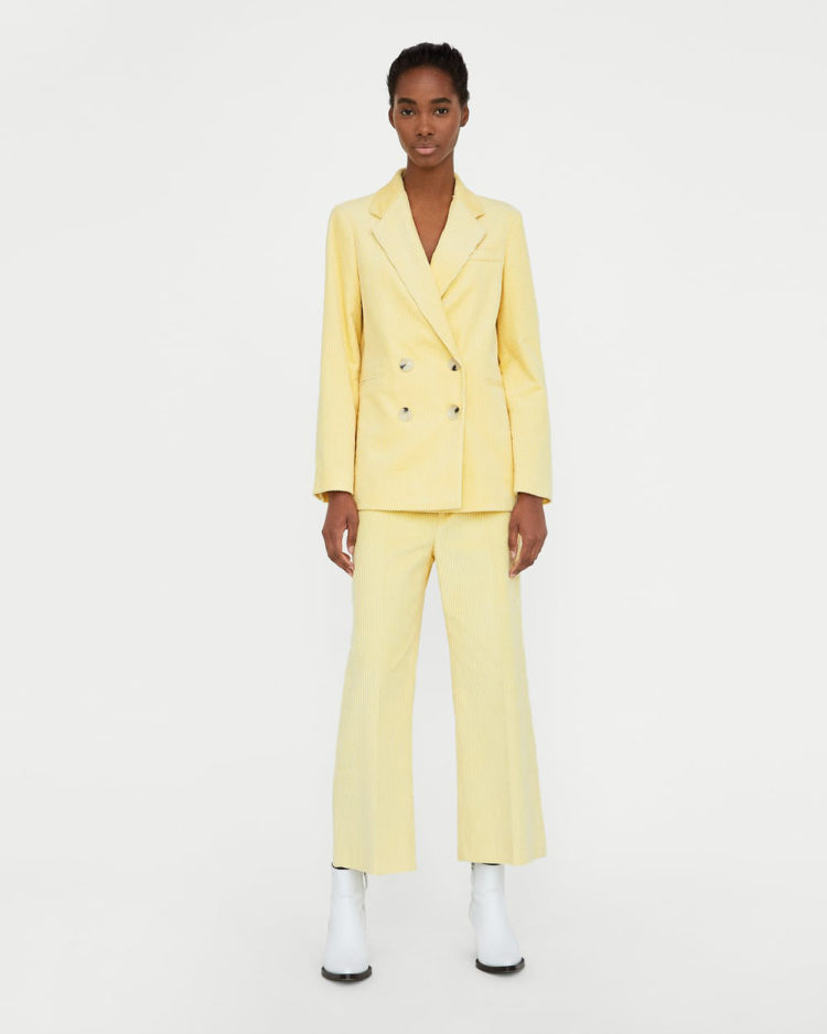 Double Breasted Corduroy Blazer, $79.90 from Zara