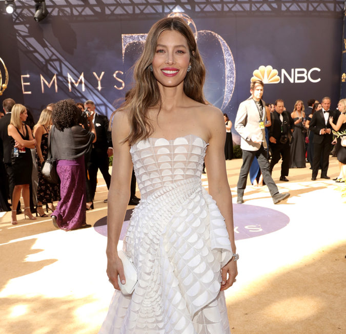 LOS ANGELES, CA - SEPTEMBER 17: 70th ANNUAL PRIMETIME EMMY AWARDS -- Pictured: Actor Jessica Biel arrives to the 70th Annual Primetime Emmy Awards held at the Microsoft Theater on September 17, 2018. NUP_184218 (Photo by Todd Williamson/NBC/NBCU Photo Bank via Getty Images)
