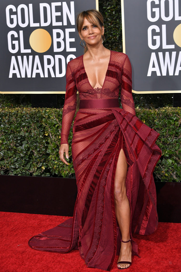 Mandatory Credit: Photo by Rob Latour/REX/Shutterstock (10048066lb) Halle Berry 76th Annual Golden Globe Awards, Arrivals, Los Angeles, USA - 06 Jan 2019