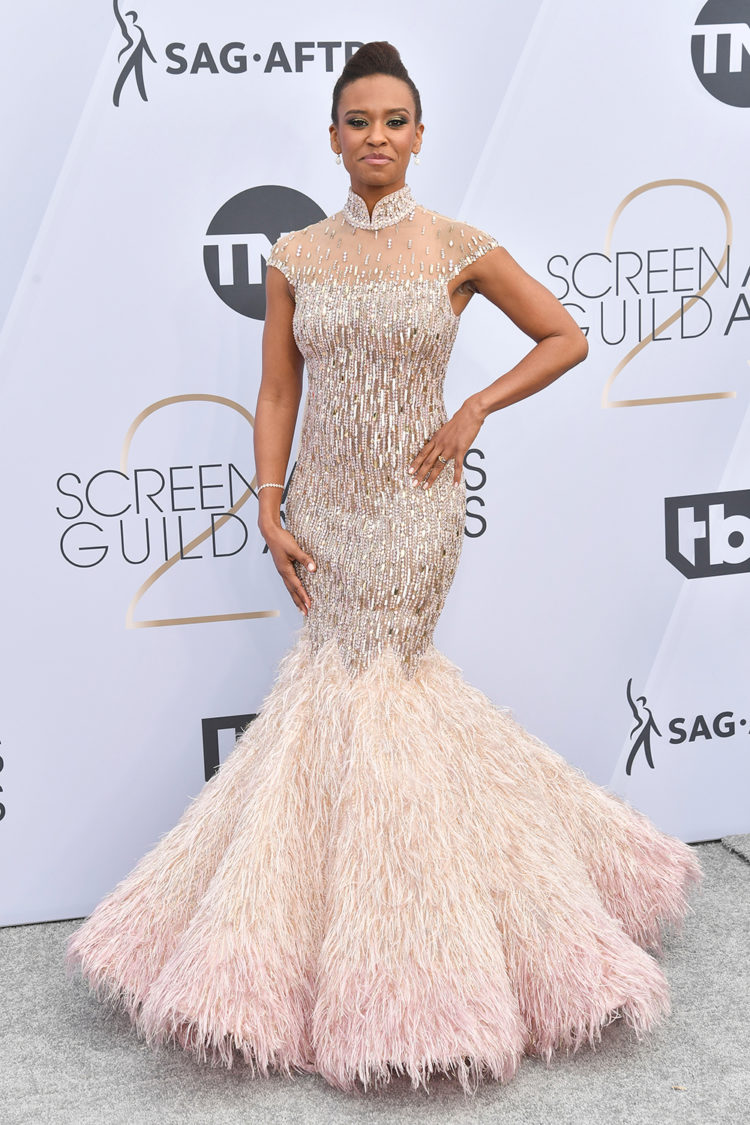 Mandatory Credit: Photo by Rob Latour/REX/Shutterstock (10072501au) Ryan Michelle Bathe 25th Annual Screen Actors Guild Awards, Arrivals, Los Angeles, USA - 27 Jan 2019